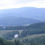 Pohled na penzion z kopce