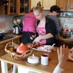 Porcování kuřete vůbec poprvé